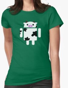 Droidarmy: Who let the cows out? Womens Fitted T-Shirt