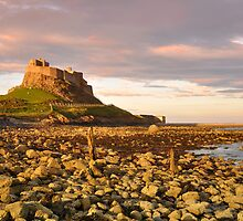 Lindisfarne sunset by Rachel Slater