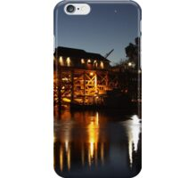 Wharf, Port of Echuca by night, Echuca, Victoria iPhone Case/Skin
