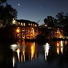 Wharf, Port of Echuca by night, Echuca, Victoria by Ian Williams