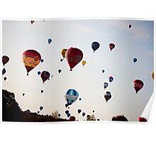 Hot Air balloons mass launch Poster