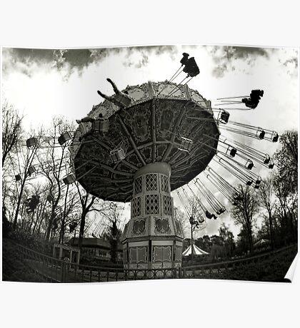 Merry-go-round through the fisheye lens Poster