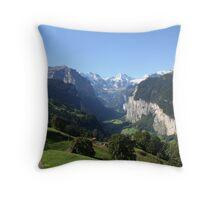 Lauterbrunnen Valley Throw Pillow