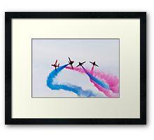 Red Arrows stunt Framed Print