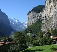 Staubbach Falls Lauterbrunnen by mjdennison