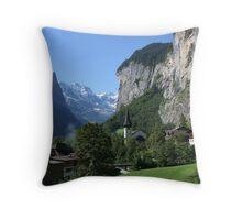Staubbach Falls Lauterbrunnen Throw Pillow