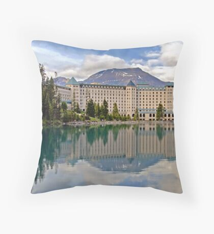 THE CHATEAU AT LAKE LOUISE, ROCKY MTS, CANADA Throw Pillow