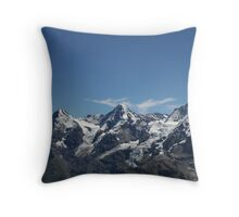 Eiger, Monch and the Jungfrau Throw Pillow