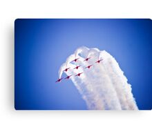 Red Arrows formation dive Canvas Print