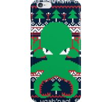 Cthulhu Cultist Christmas - Cthulhu Ugly Christmas Sweater iPhone Case/Skin