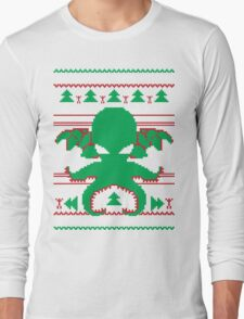 Cthulhu Cultist Christmas - Cthulhu Ugly Christmas Sweater Long Sleeve T-Shirt