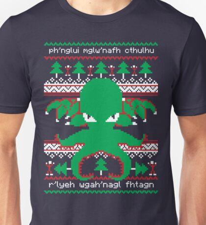 Cthulhu Cultist Christmas - Cthulhu Ugly Christmas Sweater Unisex T-Shirt