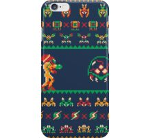 We Wish You A Metroid Christmas! iPhone Case/Skin