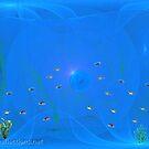 Blue Bubble by Ingrid Funk
