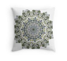 Peace Mandala - Cacti and Alyssum Throw Pillow