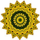 Sunflower and Black Eyed Susan Mandala by venusfire
