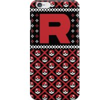 Christmas I Choose You! - Team Rocket Christmas Sweater iPhone Case/Skin