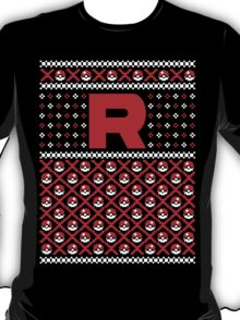 Christmas I Choose You! - Team Rocket Christmas Sweater T-Shirt