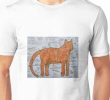 The Ginger Tom Pattern Cat Unisex T-Shirt