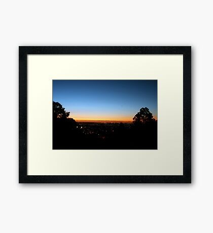 Sunset From Perth Hills Framed Print