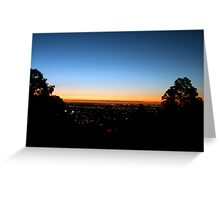 Sunset From Perth Hills Greeting Card