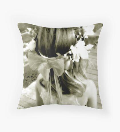 The Flowergirl Throw Pillow