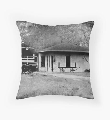 Kaleva RailRoad Depot Throw Pillow