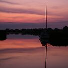 Horsey Broad Sunset by Laura Kelk