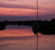 Horsey Broad Sunset by Laura Kelk