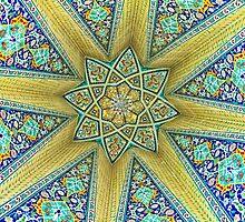 Inside the Tomb of Baba Taher - Hamadan - Iran by Bryan Freeman