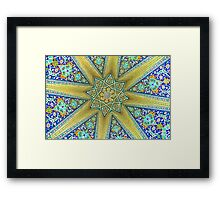 Inside the Tomb of Baba Taher - Hamadan - Iran Framed Print