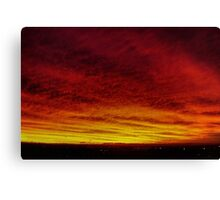 Fire In The Sky - Sydney - Australia Canvas Print