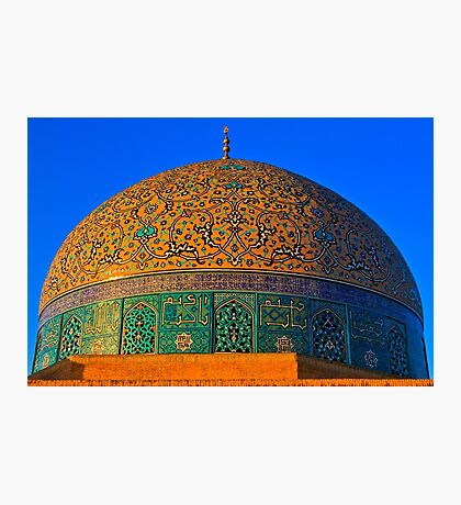 The Dome of Sheikh Lotf Allah Mosque - Esfahan - Iran Photographic Print