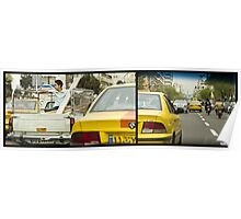 Just Chillaxing in Tehran Traffic Poster