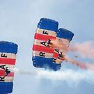 The RAF Falcons Freefall Parachute Display Team 1 by Laura Kelk