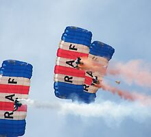The RAF Falcons Freefall Parachute Display Team 1 by Laura Kelk