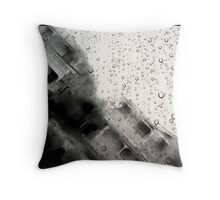 rainy here without you Throw Pillow