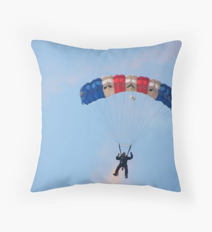The RAF Falcons Freefall Parachute Display Team 3 Throw Pillow