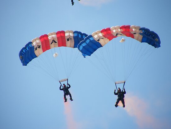 The RAF Falcons Freefall Parachute Display Team 4 by Laura Kelk
