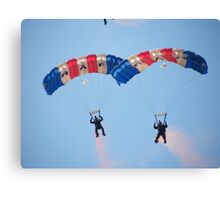 The RAF Falcons Freefall Parachute Display Team 4 Canvas Print