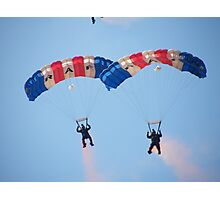 The RAF Falcons Freefall Parachute Display Team 4 Photographic Print