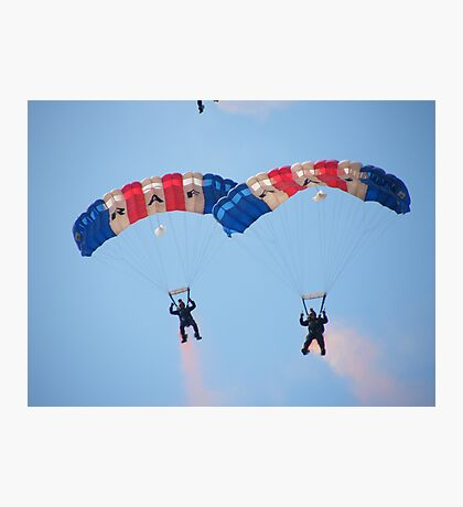 The RAF Falcons Freefall Parachute Display Team 4 Photographic Print