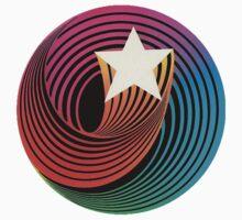 Hanna Barbera Swirling Star (white) by djpalmer