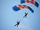 The RAF Falcons Freefall Parachute Display Team 5 by Laura Kelk