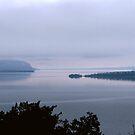 Bay Nipigon into Lake Superior - Hwy 17 - Ontario by loralea