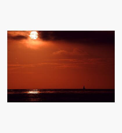 Crimson sail Photographic Print