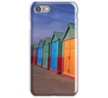 The Painted Beach Huts - Brighton - England iPhone Case/Skin
