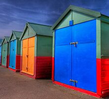 The Painted Beach Huts - Brighton - England by Bryan Freeman