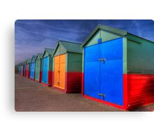 The Painted Beach Huts - Brighton - England Canvas Print