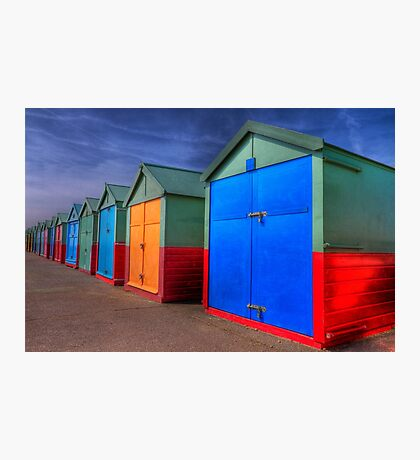 The Painted Beach Huts - Brighton - England Photographic Print